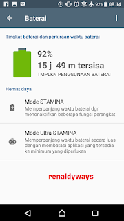 Cara Mengaktifkan Mode Stamina Di Smartphone Sony Xperia
