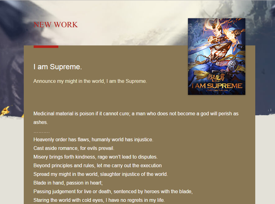 I Am Supreme - Feng Ling Tian Xia novel