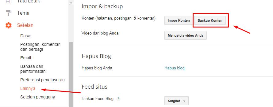 Cara Backup & Import Seluruh Postigan Blogspot
