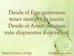 El amor supera las limitaciones del ego