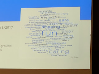 the Word Cloud of words students provided in her round of meetings