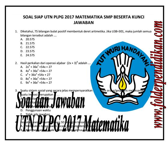 Soal UTN PLPG 2017 Matematika