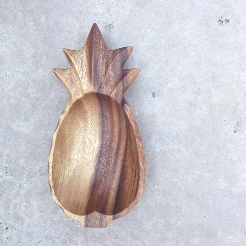 Make Pineapple Gold Leaf Bowl