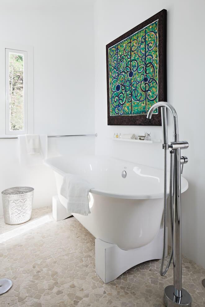 Baño total white con bañera exenta