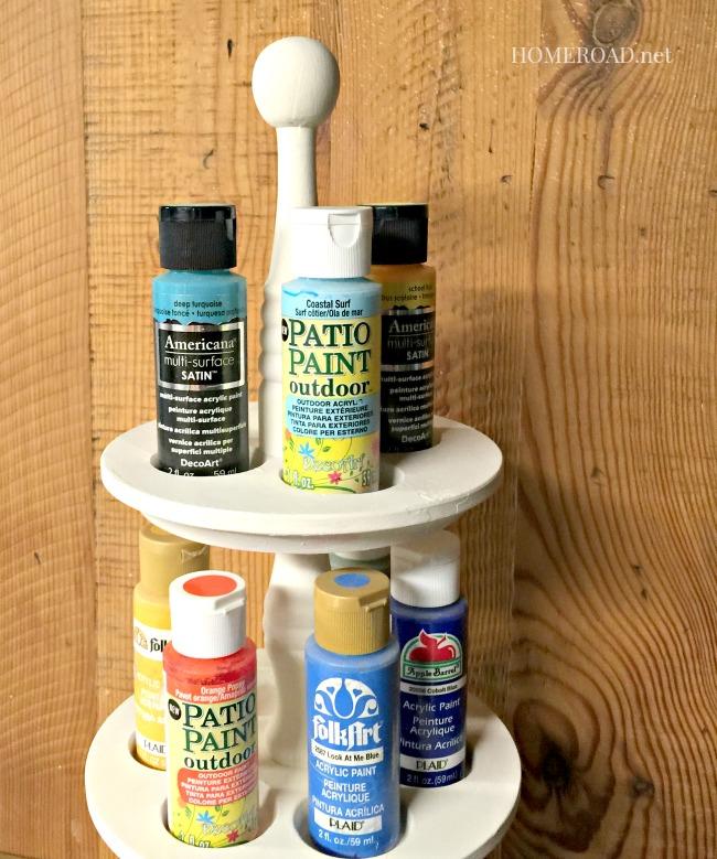 Repurposed Craft Paint Organizer