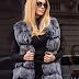 Vesta blana eleganta de femei scurta gri de iarna la reducere