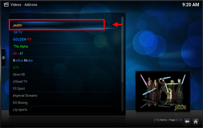 Jedi TV Addon Kodi Download And How To Install - New Kodi