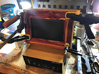 Attaching the frame to the cabinet