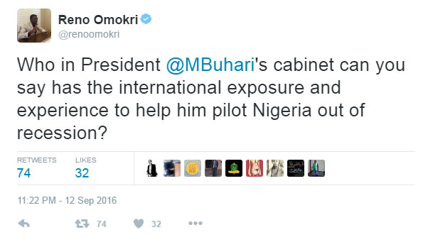 People react as Omokri asks: Who in Buhari's cabinet will save Nigeria?