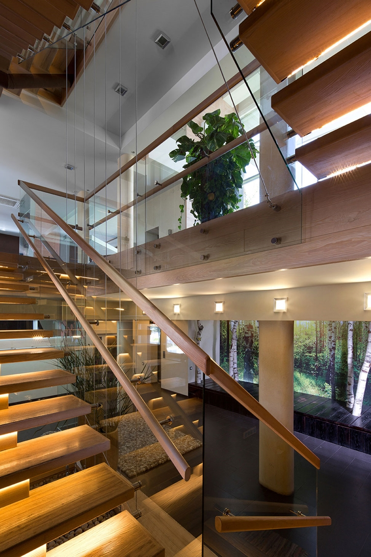 Stairs in Modern house by Yakusha Design
