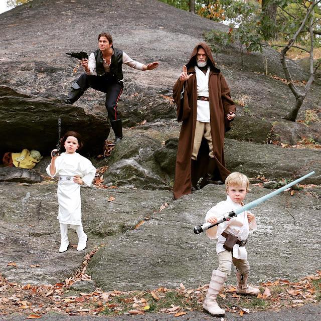 Com a volta do Star Wars em 2015, a família Harris-Burtka aproveitou o tema para o Halloween.