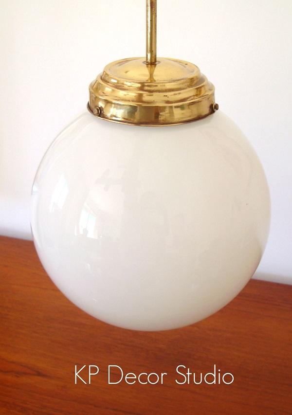 Lámpara techo vintage globo para recibidor