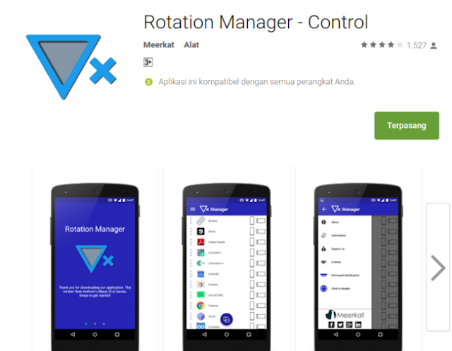 Mengatur Rotasi Layar Untuk Setiap Aplikasi