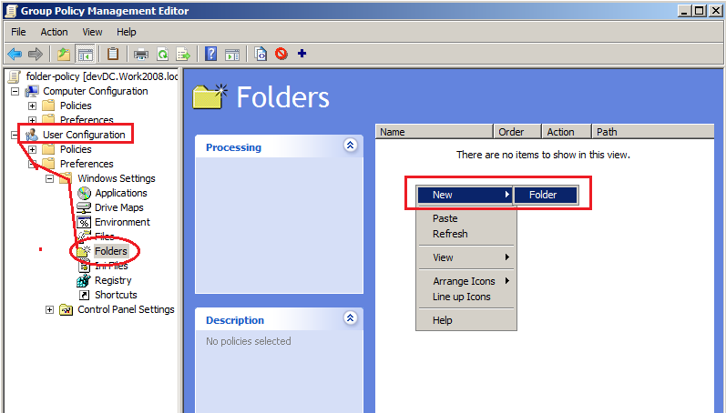 How to Create Folder on Desktop via Group Policy Object