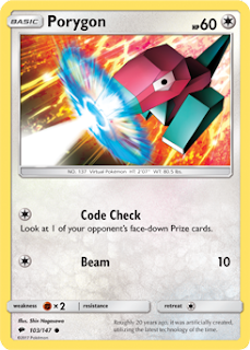 Porygon Burning Shadows Pokemon Card