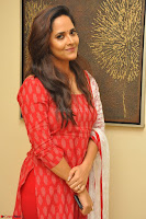 Anusuya in Red at Kalamandir Foundation 7th anniversary Celebrations ~  Actress Galleries 025.JPG