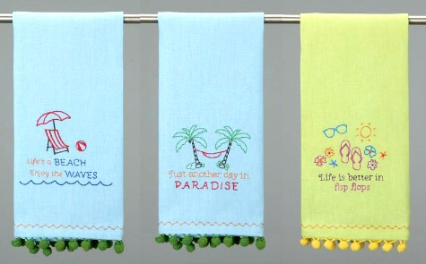 Beach Quote Kitchen Towels