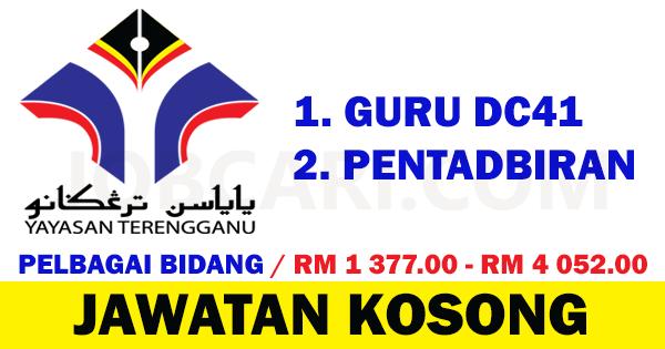 Jawatan Kosong Terbaru Sebagai Guru Dan Pentadbiran Di Yayasan Terengganu Gaji Rm 1 377 00 Rm 4 052 00 Jobcari Com Jawatan Kosong Terkini