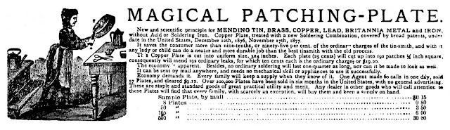 1880 fry pan repair kit Magical Patching-Plate
