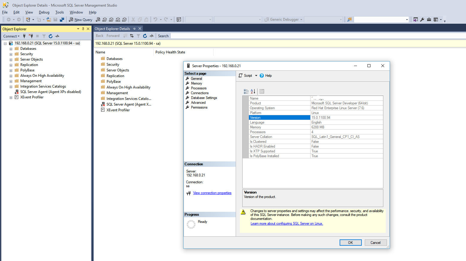 SQL Server 2019 on QNAP NAS Container Station   SQL server day-to