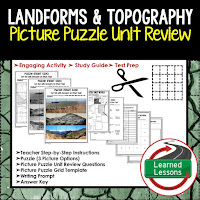 EARTH SCIENCE Test Prep, EARTH SCIENCE Test Review, EARTH SCIENCE Study Guide, Landforms and Topography