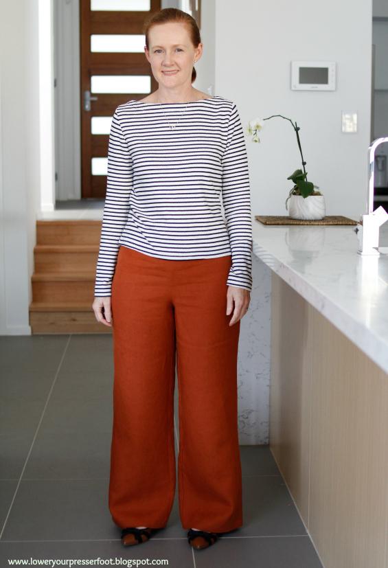 wide leg linen pants