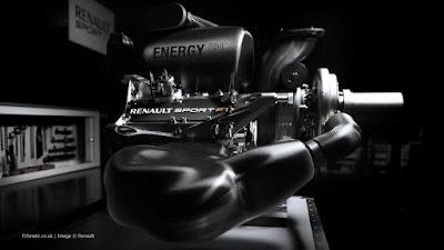 vista laterale sx del motore Renault Sport Energy V6 Turbo 2014