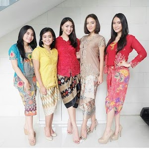 18+ Trend Baju 2018 Edisi Kebaya Modern Kombinasi Batik, Satin dan Brokat