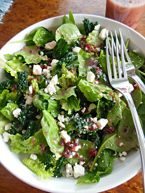 Cranberry with Thyme Vinaigrette, tangy and delicious.