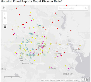 Houston Flood Reports and Relief Map