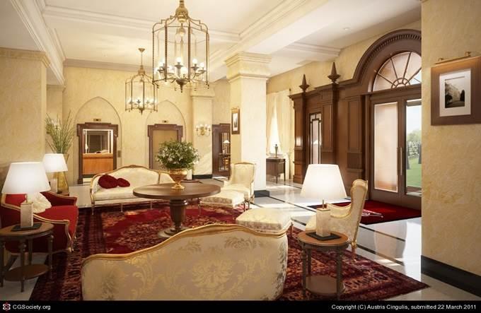 Hotel Lobby by Austris Cingulis