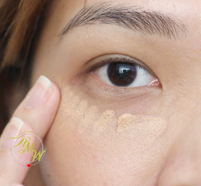 a photo on how to apply Make Up For Ever Full Cover Extreme Camouflage Cream Beige