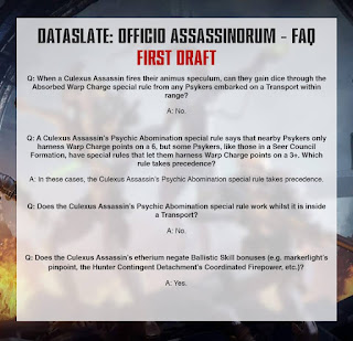 Dataslate de los templos del Assassinorum