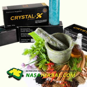 Perbandingan Crystal X Asli VS Jamu Tradisional