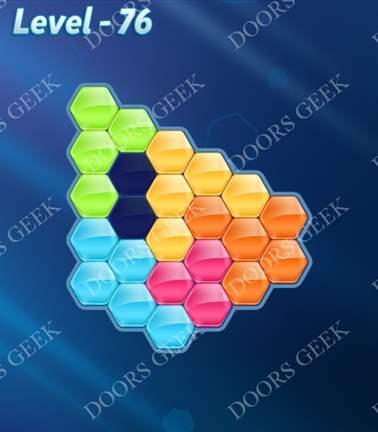 Block! Hexa Puzzle [Rainbow A] Level 76 Solution, Cheats, Walkthrough for android, iphone, ipad, ipod