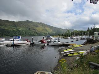 Small boats on Loch Lomond