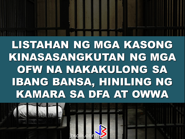 """We would like to find out exactly how many OFWs have been convicted or undergoing trial, the nature of their cases, the penalty they are facing, what can be done to help them,"" Quezon City Representative Winnie Castelo  said. Castelo called for complete inventory of the OFWs facing jail term and their corresponding court cases in their host country from OWWA and DFA so that the House of Representatives can draft a comprehensive legal assistance program to prevent future executions.         On the case of Jakatia Pawa, Castelo claimed the DFA was informed of Pawa's fate only on January 24, a day before her execution, saying the DFA and OWWA would have saved the life of Pawa if they were informed earlier.   ""If the DFA and OWWA had been on their toes, the notice would not have come too late,"" he said.  Castelo said that these two agencies should have a different plan and approach to address various cases OFWs are facing. He also asked OWWA and the DFA to present their ongoing program, if any, that aims to prevent OFWs from being involved on criminal acts or being victimized  by abuse of their employer that may have pushed them to  commit crimes.      The Congressman even said that The two agencies may tell the Congress if they lack or short of funds so that the House can make the appropriation for a legal defense fund for OFWs."