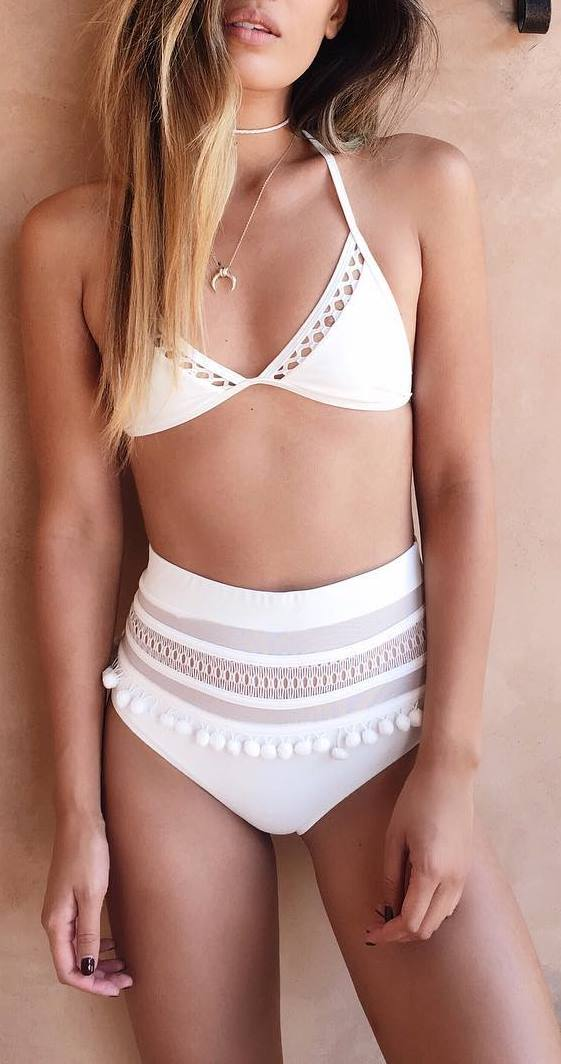 cute white bikini