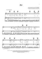 Guetta, Bieber 2U free sheet music