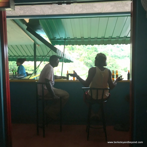 interior of Kool Breeze bar in Paramin Village in Trinidad