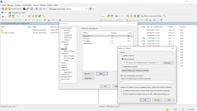 SmagYun WinSCP Preferences Editeur Notepadpp