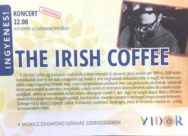 The Irish Coffee a VIDOR műsorfüzetében