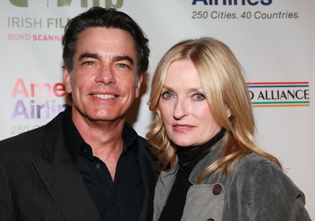 Peter Gallagher and Paula Harwood Gallagher pose for picture