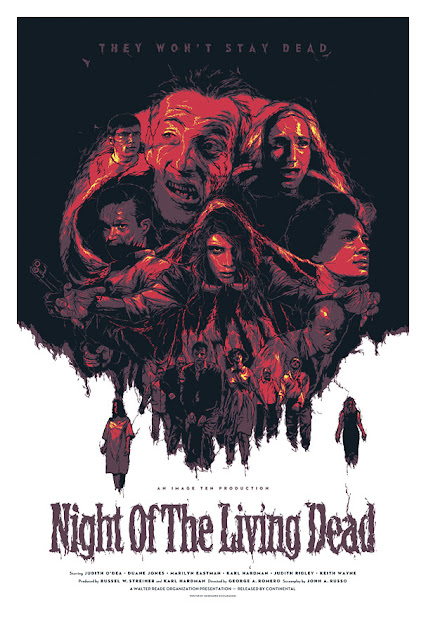 George A. Romero's Night of the Living Dead Standard Edition Screen Print by Grzegorz Domaradzki