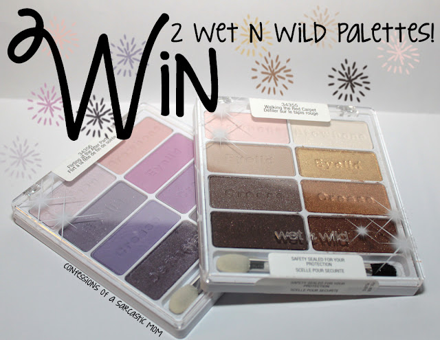 A giveaway for 2 Wet n Wild palettes!