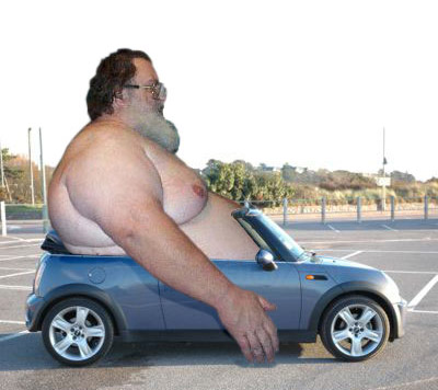 Fat Guy In Small Car 39