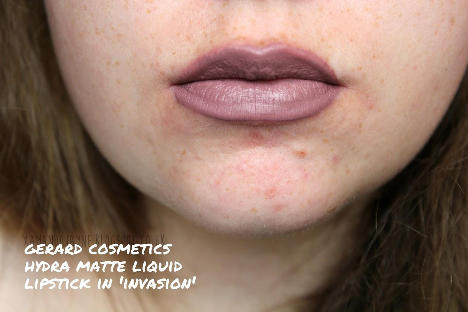 gerard cosmetics hydra matte liquid lipstick invasion dupe, primark kendall super matte liquid lipstick, review, swatches, hydra matte dupe, gerard cosmetics dupe