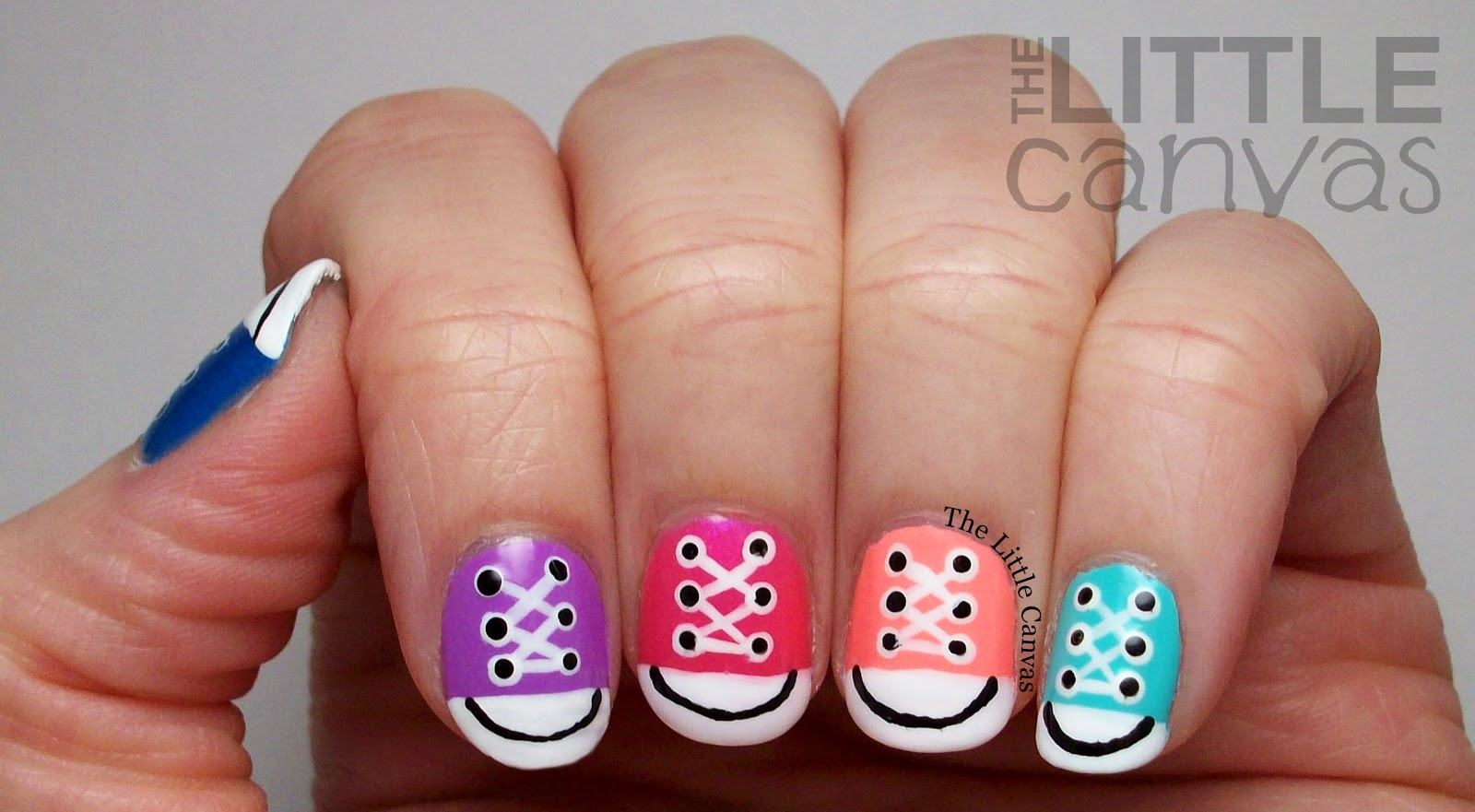 Converse Nail Art Take 2 + Tutorial! - The Little Canvas