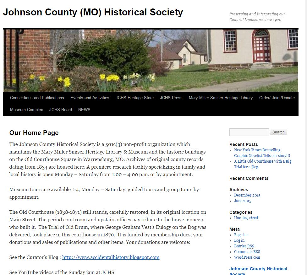 Johnson County MO Historical Society Link