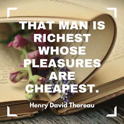 That man is richest whose pleasures are cheapest. #books #readeveryday